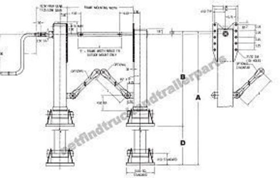Container Chassis Landing Gear : Landing leg jost quot with cushion feet