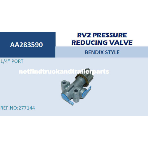 Valve Bendix RV2 Pressure Reducing Valve Truck Trailer