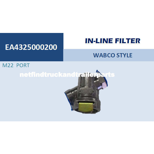 Valve Wabco Style In Line Filter M22 Truck Trailer