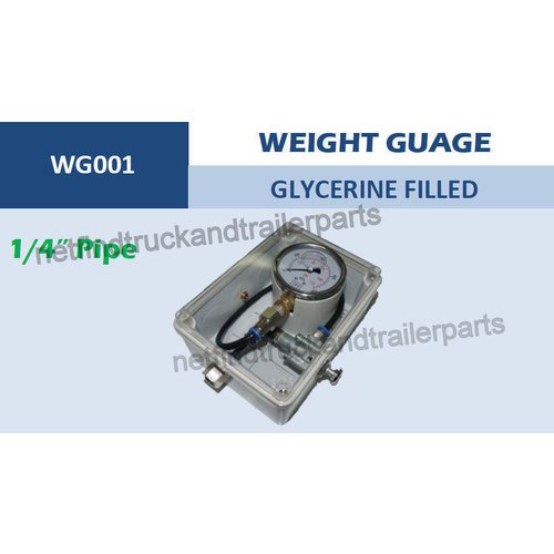 Weight Gauge To Suit Truck Or Trailer- Glycerine Filled