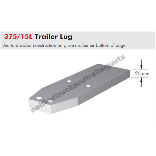 Bartlett Trailer Hood 95mm Accessory - Lug 25mm 375/145L