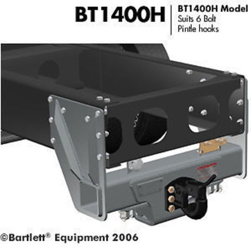 Tow Hitch to suit Pintle Hook Heavy to 21,500kg Heavy Truck Trailer Tow Bar BT1400H-21.5T