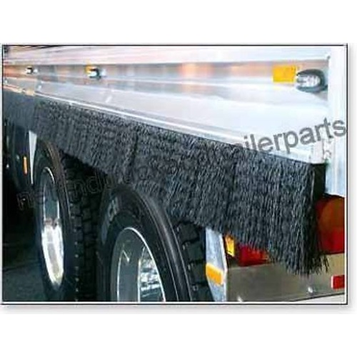 Spray Suppressant – Flexible Back Strip Brush 100mm x 1m to suit Truck/Trailer