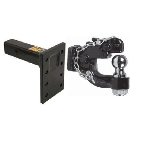 Pintle Hook 8T Dual Pintle With 8 Hole Pintle Adapter