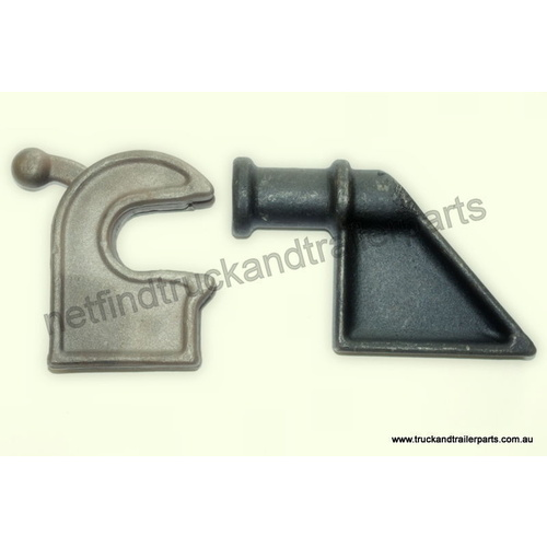 30mm Medium Tailgate Latch & Hinge System Kit Body Hardware