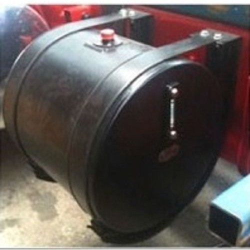 Hydraulic Oil Tank Truck 200 Litre Round Powdercoated Steel (Black) H046E