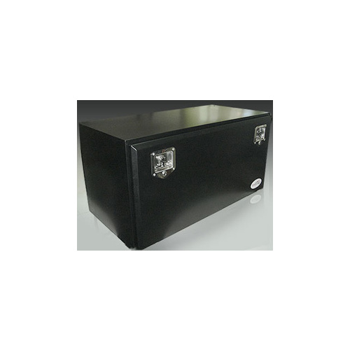 Toolbox Steel Powdercoated Black Truck Tool Box 500x500x500mm TB015