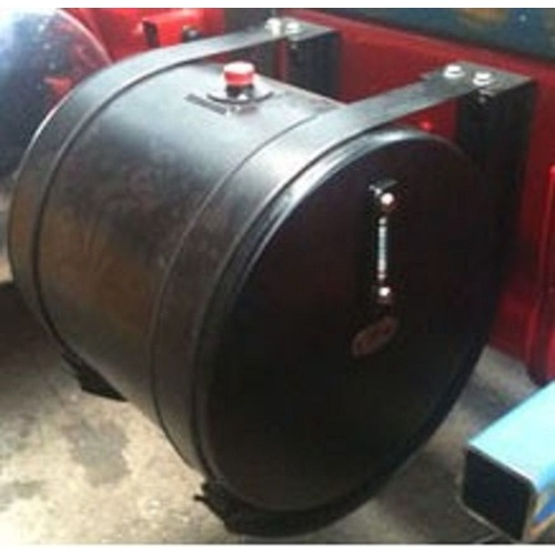 Truck 200 Litre Round Powdercoated Steel (Black) Truck Hydraulic Oil Tank  H029E