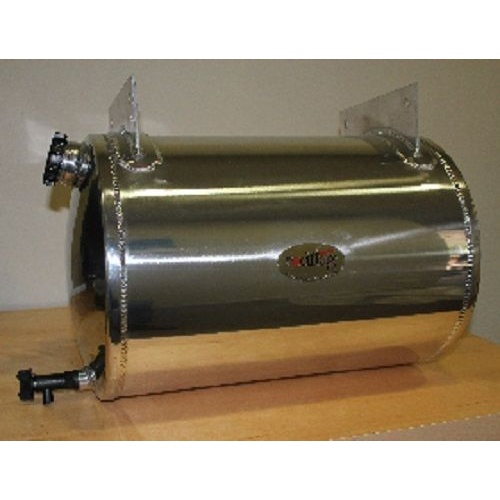 Water Tank 50 Litre Round Stainless Steel Polished with welded bracket WT026