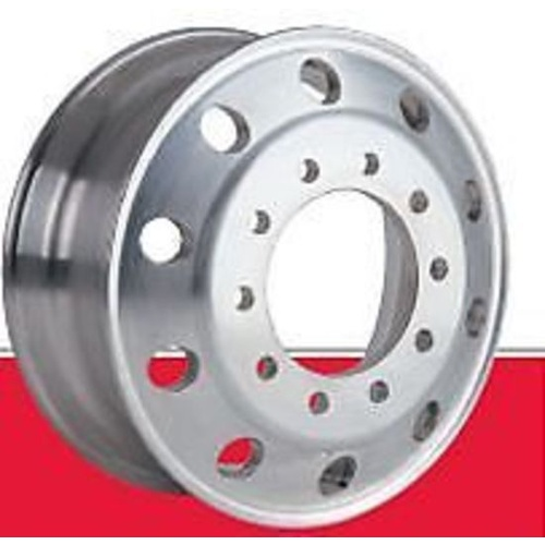 Rim Aluminium Machined 10 Stud 335mm PCD (Euro) 22.5x8.25 to suit truck trailer