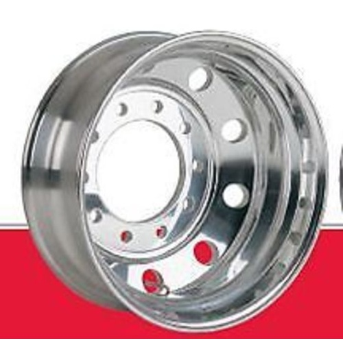 Rim Aluminium Polished 10 Stud 285mm PCD (USA) 22.5x8.25 to suit truck trailer