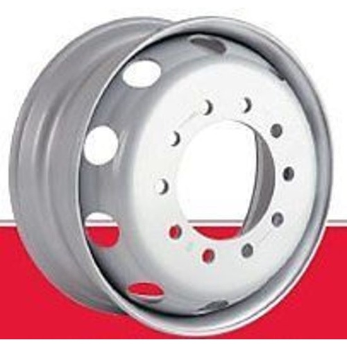Rim Steel Silver 10 Stud 335mm PCD (Euro) 22.5x8.25 to suit truck trailer