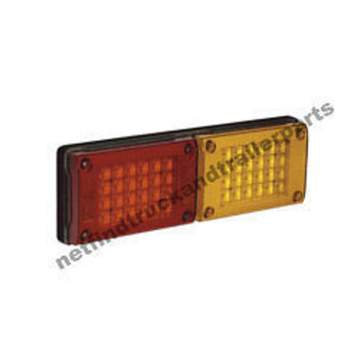 LED Lighting - LED Jumbo Double Combination Lamp (Red/Amber) Truck & Trailer