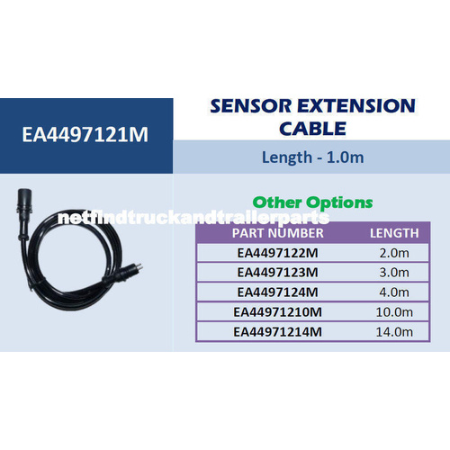 ABS/EBS Sensor Cable Extension 1 metre Truck Trailer