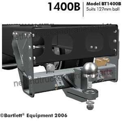Tow Hitch to suit 127mm Bartlett Ball 21500kg with bolt kit Towbar BT1400B-21.5T