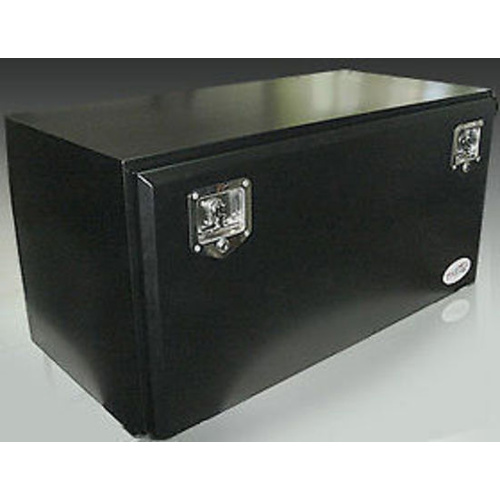 Toolbox Steel Powdercoated Black Truck Tool Box 600x400x500mm TB013